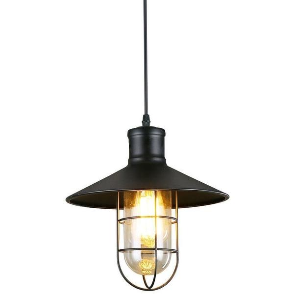 Vintage industrial black wire cage edison pendant lamp light