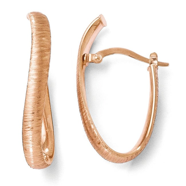 Italian 14K and Rose Gold-Plated Textured Earrings