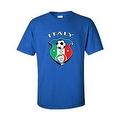 MEN'S SPORTS T-SHIRT Italy Soccer Team FLAG FUTBOL FOOTBALL S M L XL 2XL-5XL - Thumbnail 6