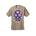 Men's T-Shirt Funny Sugar Skull Purple Galaxy Hipster Day of the Dead Victorian Tee - Thumbnail 5