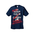 Men's T-Shirt Keep Calm and Run! Zombies are Coming!!! Undead Death Kill Tee - Thumbnail 6