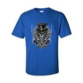 MEN'S BIKER T-SHIRT SKULL WITH TOP HAT CROSSED PISTOLS & ROSES S-XL 2X 3X 4X 5X - Thumbnail 0