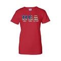 Women's Juniors T-Shirt United States USA Flag American Pride Stars & Stripes Tee - Thumbnail 4