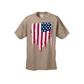 MEN'S PATRIOTIC T-SHIRT Painted USA AMERICAN FLAG RED WHITE BLUE PRIDE S-5XL TEE - Thumbnail 2