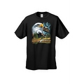 Men's T-Shirt Bald Eagle in Nature USA Forever Freedom American Heritage Tee - Thumbnail 8