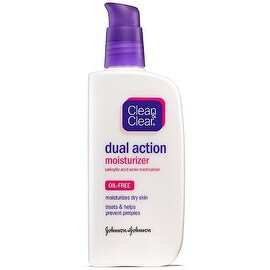 CLEAN & CLEAR Dual Action Oil-Free Moisturizer 4 oz
