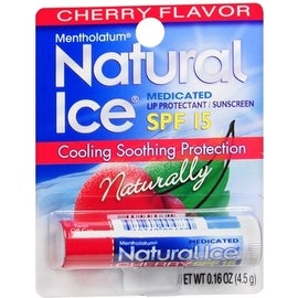 Mentholatum Natural Ice Lip Balm Cherry SPF 15 1 Each