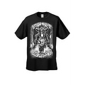 Men's T-Shirt White Shut Up & Ride Skeleton Biker Skull On A Hog Motorcycle Tee - Thumbnail 2