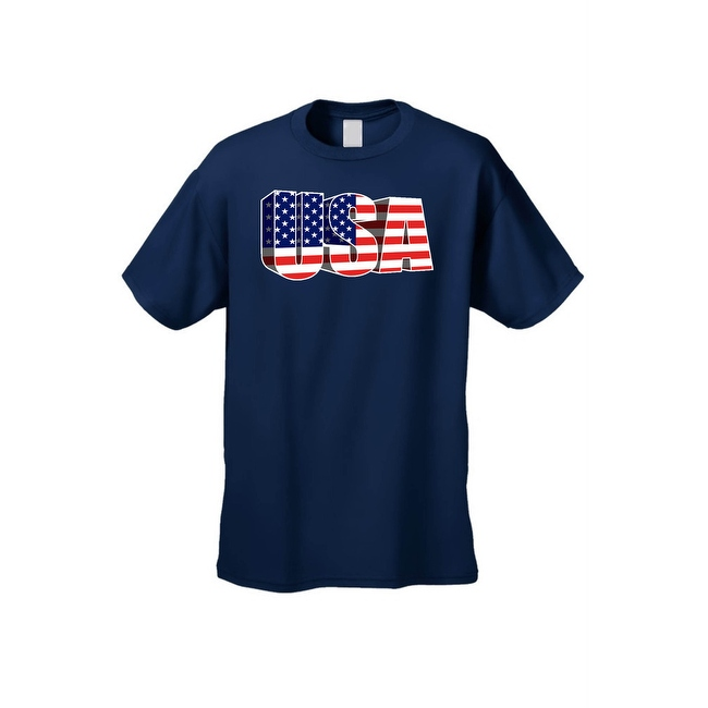 Men's USA Flag T Shirt 3D Patriotic Pride Stars & Stripes American Old Glory Tee