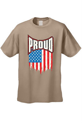 MEN'S T-SHIRT Proud American Distress Flag PATRIOTIC USA STARS & STRIPS TEE S-5X