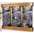 Adagio Deep Creek Falls Fountain w/ Black Spider Marble in Rustic Copper Finish - Thumbnail 10