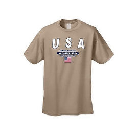 MEN'S T-SHIRT USA GENUINE AUTHENTIC AMERICA ESTABLISHED 1776 AMERICAN FLAG S-5XL