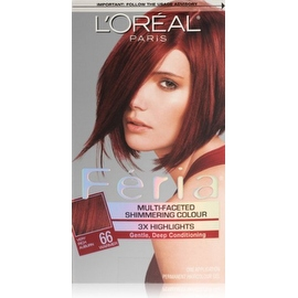 L'Oreal Paris Feria Multi-Faceted Shimmering Color Very Rich Auburn [66] (Warmer)
