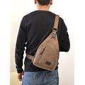 Vintage Canvas Satchel School Military Men's Hiking Shoulder Bag Messenger Bag - Thumbnail 4