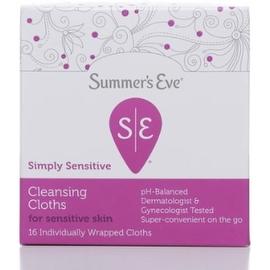 Summer's Eve Feminine Cleansing Cloths Sensitive Skin 16 Each
