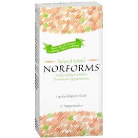 Norforms Suppositories Tropical Splash 12 Each