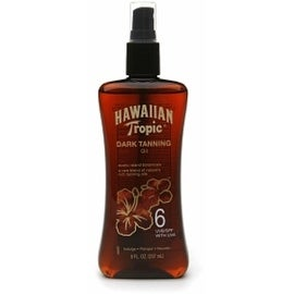 Hawaiian Tropic 8-ounce Dark Tanning Oil Spray Pump SPF 6