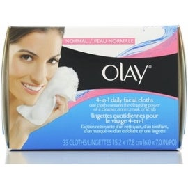 OLAY 4-in-1 Daily Facial Cloths, Normal Skin 33 ea