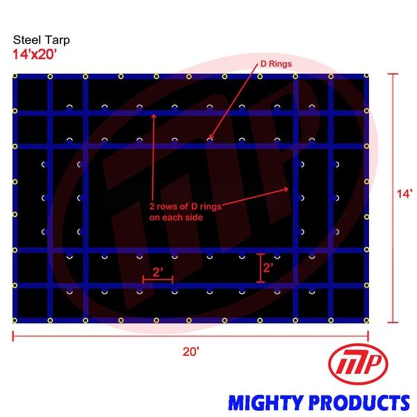 Xtarps - 14' x 20'  Truck Tarp - Steel Tarp - Heavy Duty, Industrial Grade
