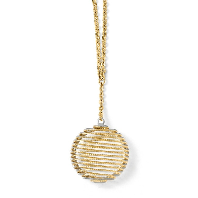 14k Two-Tone Gold Wire Wrapped Necklace - 18 inches