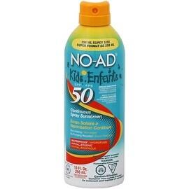 NO-AD Kids Sunscreen Spray SPF 50 10 oz