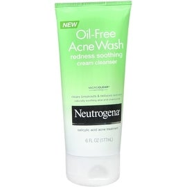 Neutrogena Oil-Free Acne Wash Redness Soothing Cream Cleanser 6 oz