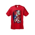 Men's T-Shirt Mad Joker Clown Crazy Creepy Red Nose Smoking Cigar Graphic Tee - Thumbnail 3
