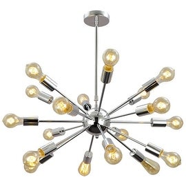 18 light chrome modern chandelier