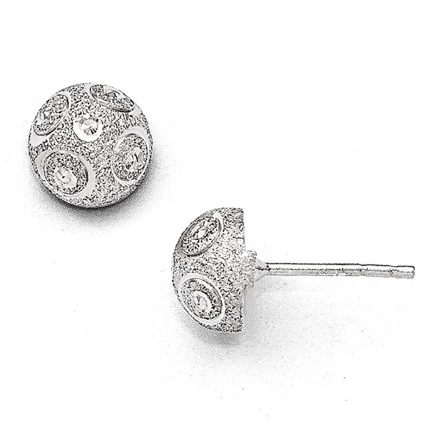 Sterling Silver Textured Post Earrings