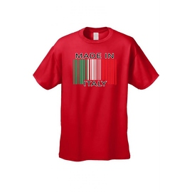 Men's T-Shirt Funny Made In Italy  Barcode Italian Pride Unisex