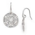 Italian Sterling Silver Polished & Textured Earrings - Thumbnail 0