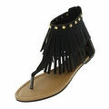 Red Circle Footwear Women's 'Antigua' Fringe Sandal - Thumbnail 1