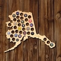 Alaska Beer Cap Map - Thumbnail 0