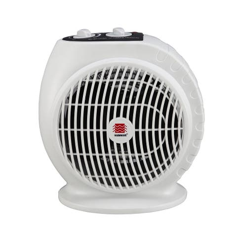 "WarmWave HFQ15A 10"" Tall 5120 BTU Electric Portable Heater - Beige"