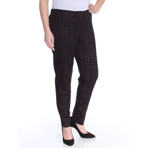 ALFANI Womens Purple Houndstooth Pants Size: 12