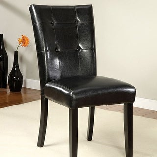 Contemporary Side Chair, Set Of Two, Black