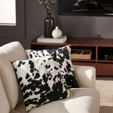 Faux Cow Hide Print Accent Pillows (Set of 2) by iNSPIRE Q Bold