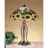 Meyda Tiffany 47592 Stained Glass / Tiffany Table Lamp from the Wild Sunflowers Collection - tiffany glass - n/a