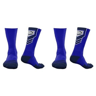 EvoShield Performance Crew Socks (Royal Blue w/ Navy / Large / 2 Pair)