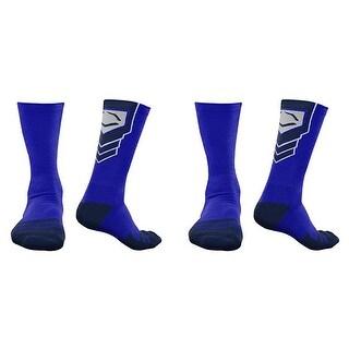 EvoShield Performance Crew Socks (Royal Blue w/ Navy / X-Large / 2 Pair)