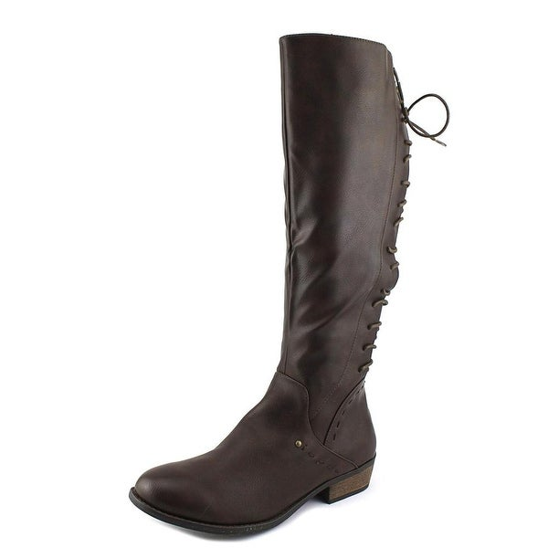 Rampage Heleana Women Round Toe Synthetic Brown Knee High Boot