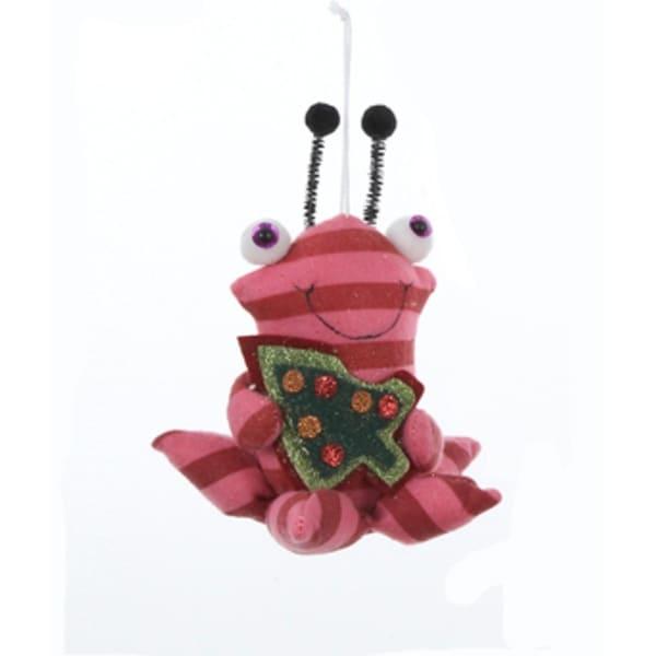 "6.5"" Ugly Cuties ""Stewart"" the Space Slug Plush Animal Christmas Ornament - RED"