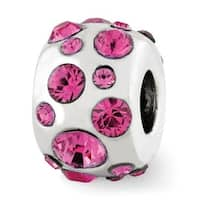 Sterling Silver Reflections October Swarovski Elements Bead (4mm Diameter Hole)