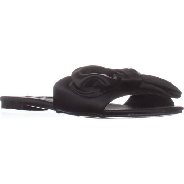 ZiGi Valiant Flat Slide Sandals, Black