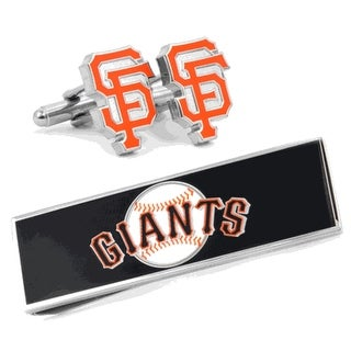 San Francisco Giants Cufflinks and Money Clip Gift Set MLB - Orange