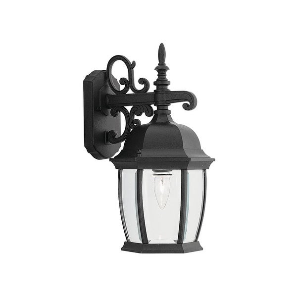 """Designers Fountain 2421-BK 1-Light 8"""" Cast Aluminum Wall Lantern from the Tiverton Collection - Black - n/a"""