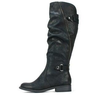 White Mountain Womens leto Almond Toe Knee High Fashion Boots