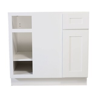 "Design House 613323 Brookings 34.5"" x 36"" Double Door Base Cabinet - White - N/A"