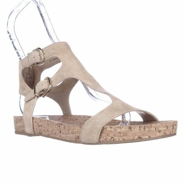 Via Spiga Lamuela Ankle Strap Flat Sandals, Straw