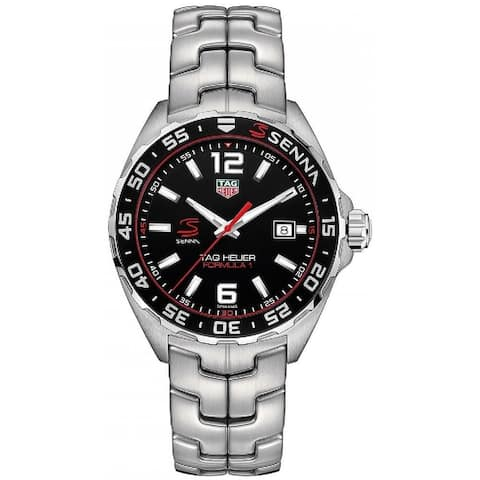 Tag Heuer Men's WAZ1012.BA0883 'Senna' Stainless Steel Watch - Black